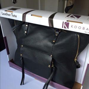Kooba black leather tote still in box